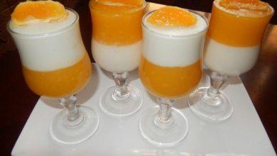 طريقه عمل مهلبيه البرتقال والحليب