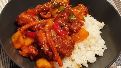 طريقة عمل دجاج حامض حلو الصيني