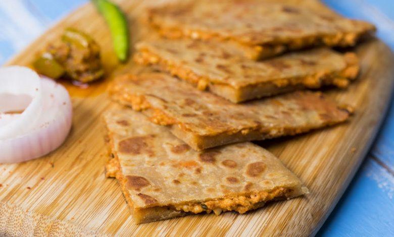 طريقة عمل بيتزا بخبز البراتا الهندي