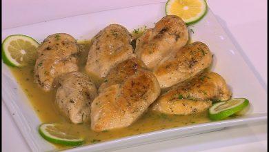 طريقة عمل ستيك الدجاج بصوص الليمون