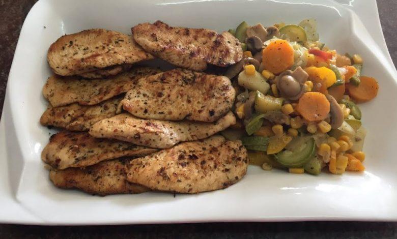 طريقة عمل وجبة دجاج صحية بالخضار