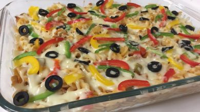 كيفية عمل معكرونة البيتزا بالدجاج