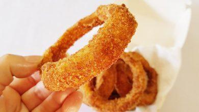 حلقات البصل المقرمشة بطريقة المطاعم