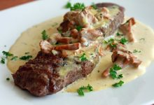 طريقة عمل ستيك اللحم بالكريمة والفطر