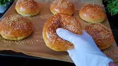 خبز البرغر بأروع واسهل طريقه