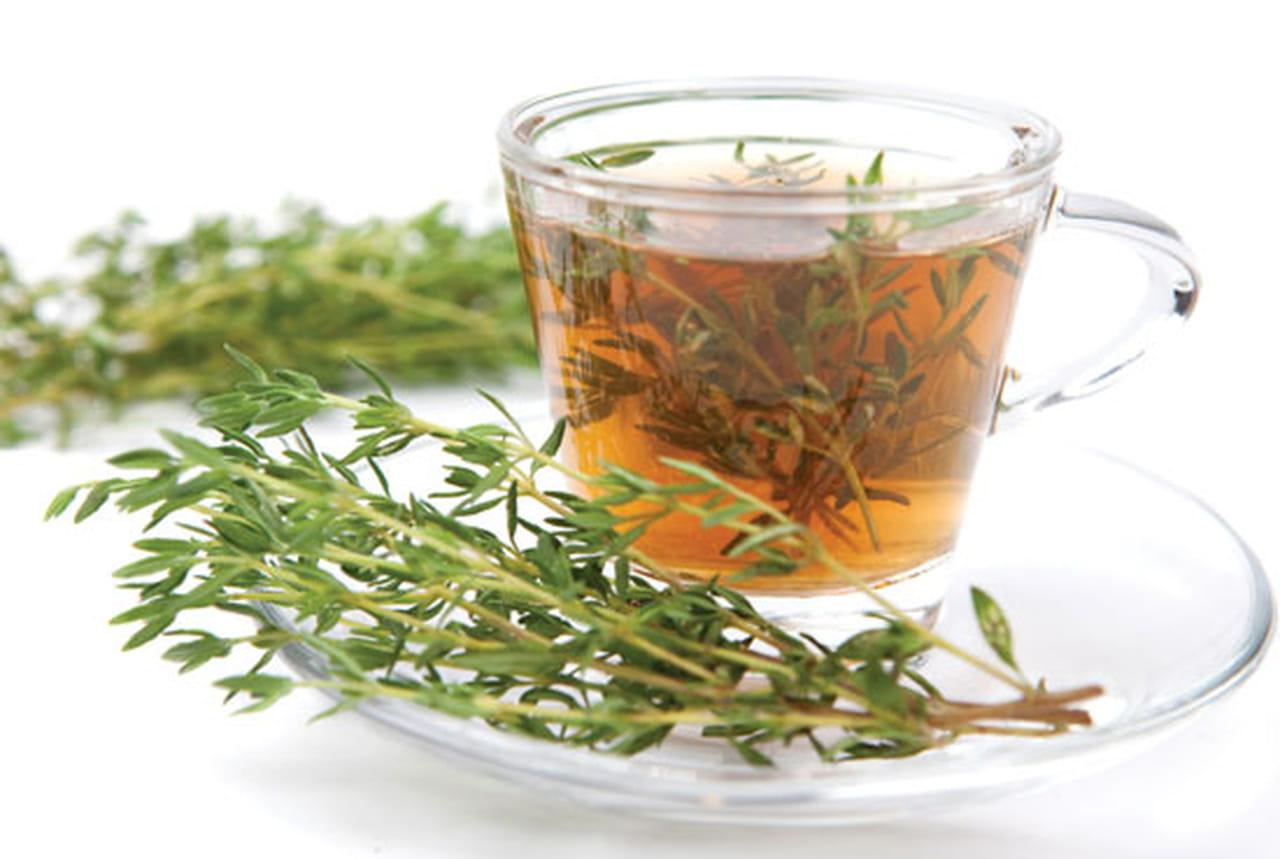 غسول الزعتر مع الشاي الأخضر