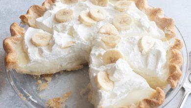 طريقة عمل تارت الموز بالكريمة
