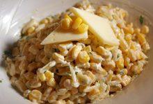 طريقة عمل سلطة الذرة بالجبنة