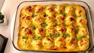 طريقة عمل كرات البطاطس بالدجاج والبشاميل