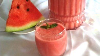 طريقة عمل عصير البطيخ المثلج