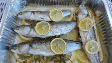 طريقة عمل السمك البوري بالزيت والليمون
