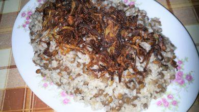المجدرة بالارز على الطريقة السورية