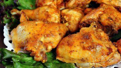 طريقة عمل دجاج مشوي بالفرن مع البطاطا المشوية