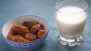 فوائد التمر مع الحليب