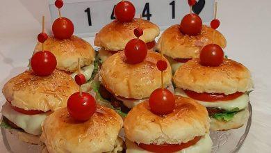 خبز البرجر مثل المطاعم ناجح