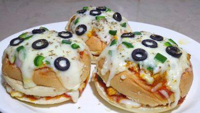 طريقة عمل بيتزا بخبز البرجر