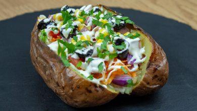 البطاطس المشوية المحشية
