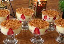 تحلية رمضانية بالكريم باتيسيير والفواكه