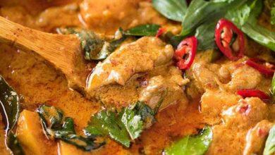 شوربة الدجاج التايلندية بالكاري