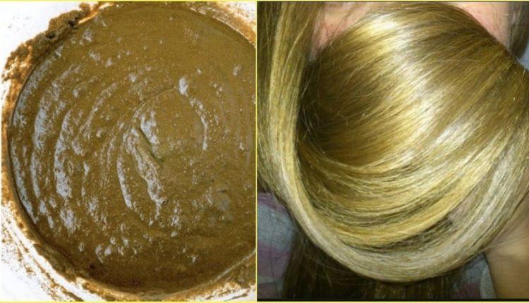 الوصفة الطبيعية على لون أشقر ذهبي مميز دون صبغة