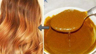 صبغ الشعر بالون البني باستعمال مكونات طبيعية