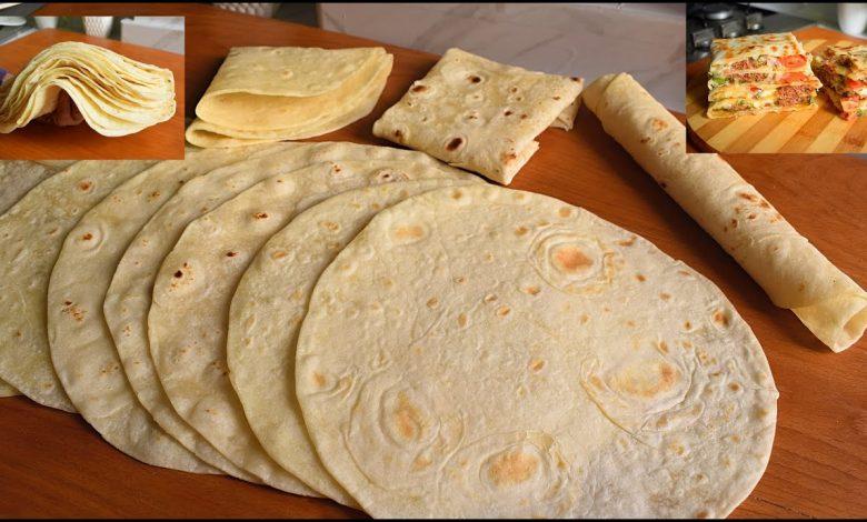 طريقة عمل خبز التورتيلا بطريقة سريعة