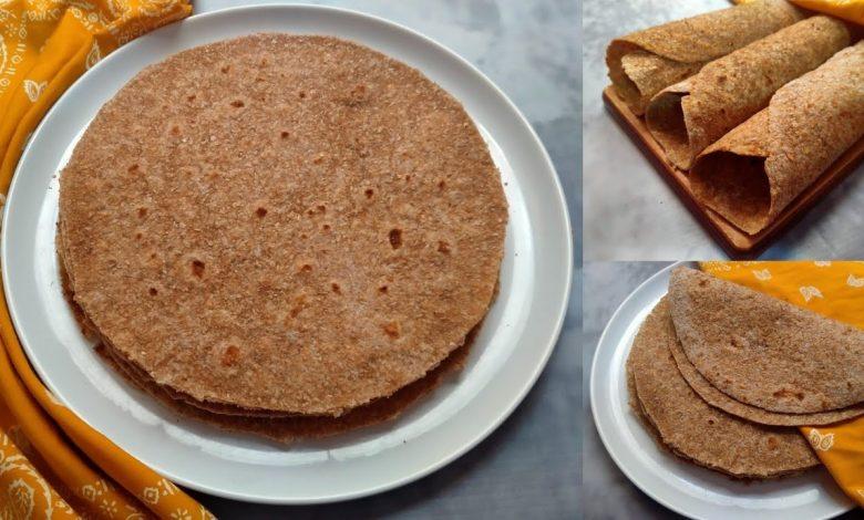 طريقة عمل خبز الصاج الأسمر