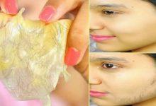 تحضير ماسك الجيلاتين لإزالة شعر الوجه بسهولة