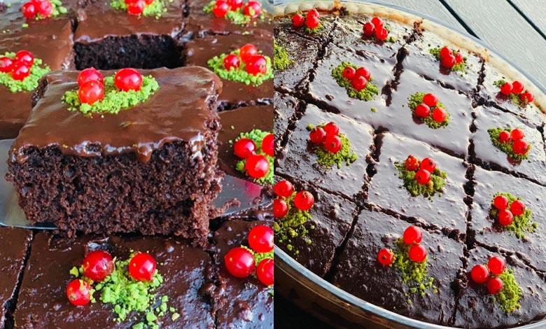 طريقة تحضير كيك بصوص الشوكولاتة