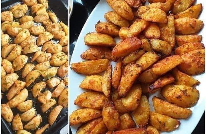طريقة عمل بطاطس في الفرن مقرمشة وصحية