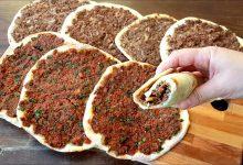 مناقيش اللحم بعجين على طريقة جو برزا