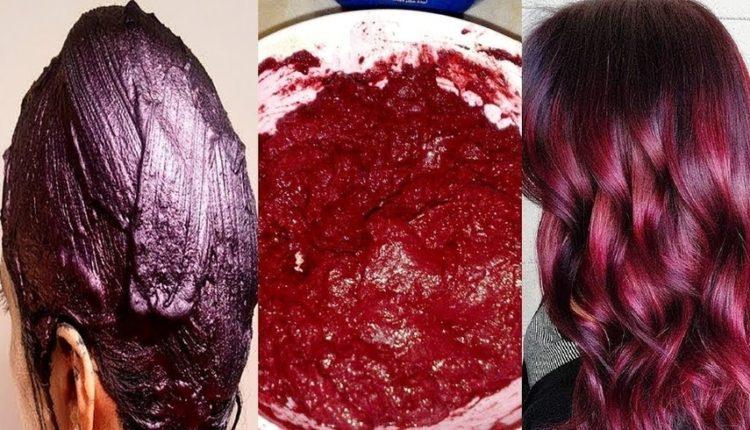 صبغ الشعر باللون الأحمر طبيعيًا