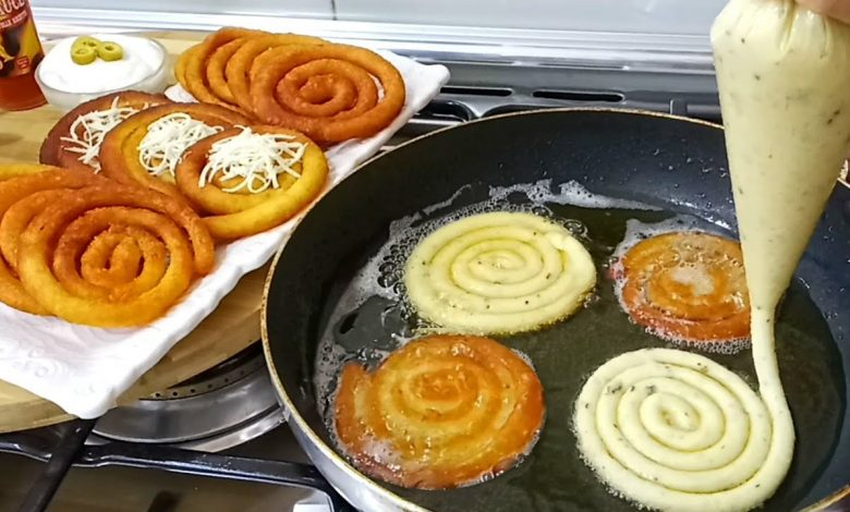 طريقة عمل بطاطس حلزوني بالثوم