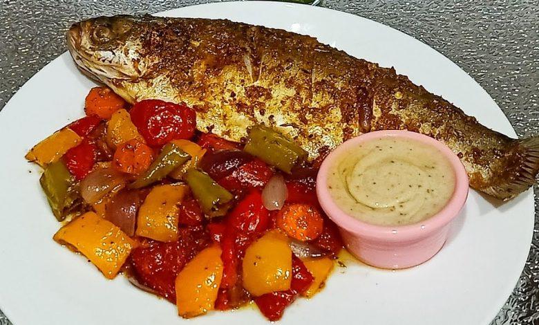 طريقة عمل سمك مشوي بالفرن للرجيم