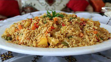 طريقة عمل طبق الأرز والخضر