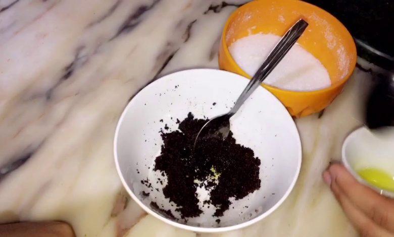 ماسك القهوة والسكر لتقشير البشرة