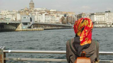 تنسيق لفات حجاب للوجه المربع