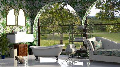 حوض الاستحمام الحر في التصميم الداخلي