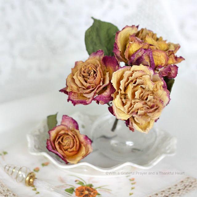 طريقة تجفيف الورد