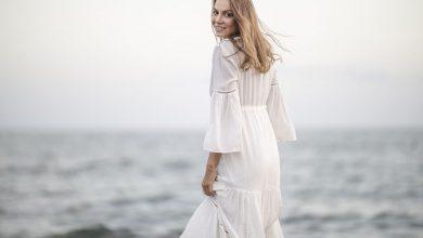 طريقة تنسيق الفساتين البيضاء للمحجبات