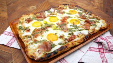 طريقة عمل بيتزا البيض