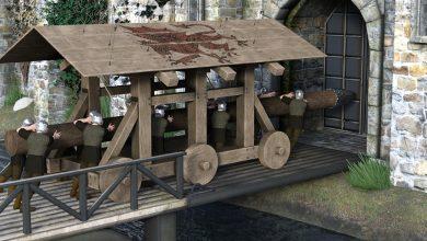 قصة اختراع آلة الضبر الحربية القديمة – Siege Tower