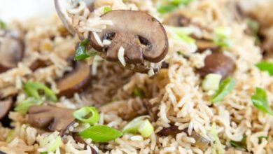 أرز بالفطر دايت