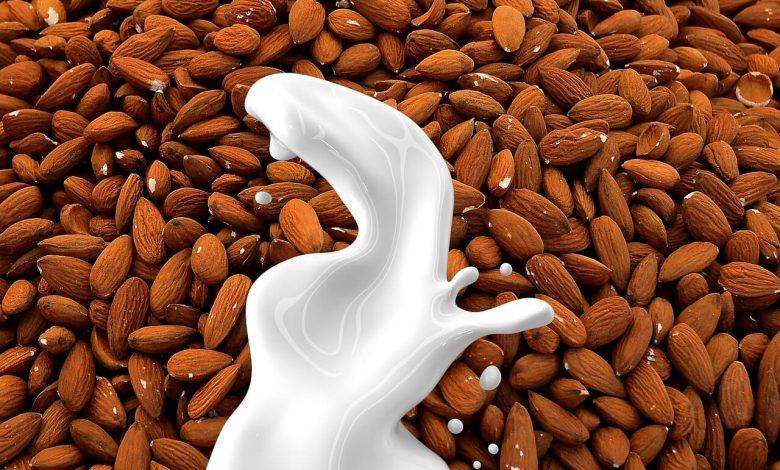 أهم الفيتامينات والمعادن الموجودة في حليب اللوز