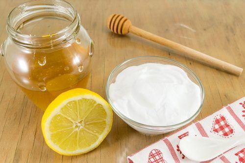العسل والليمون مع صودا الخبز