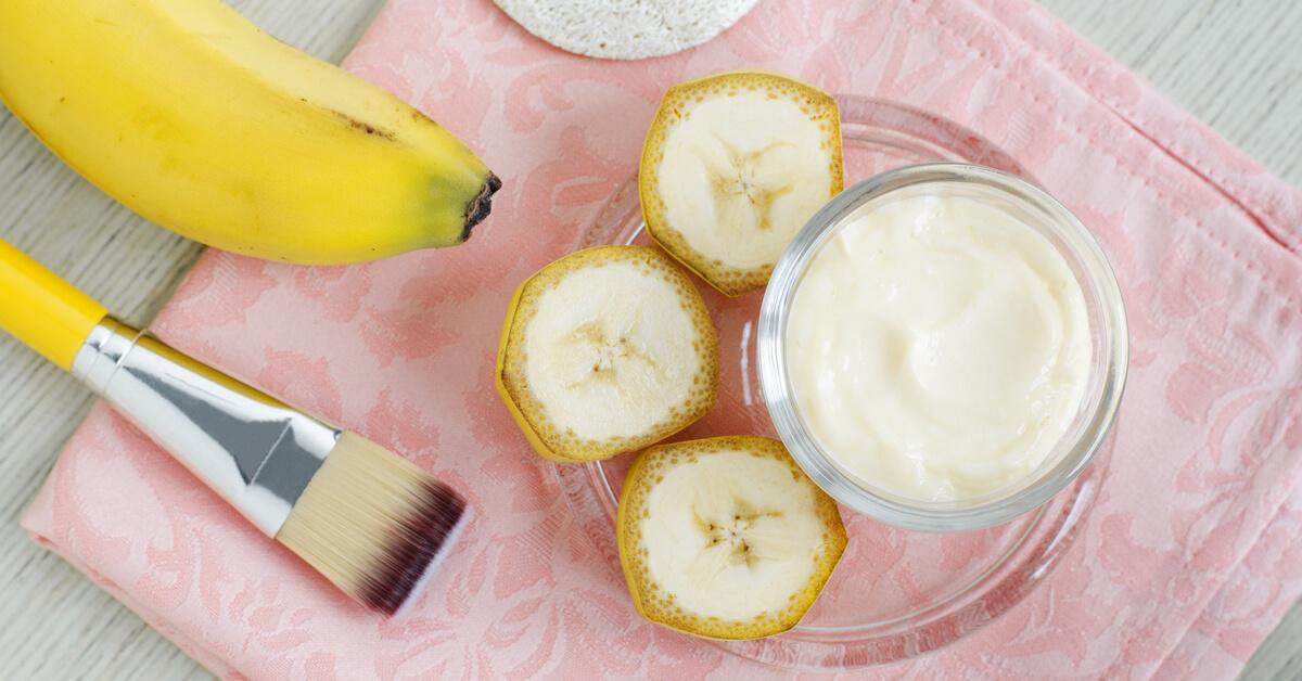 خلطة الموز لشد البشرة