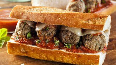 ساندويتش كرات اللحم الإيطالية
