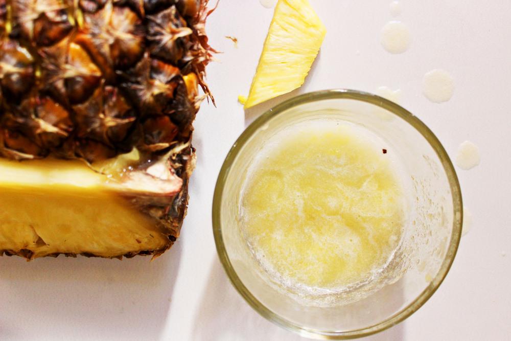 ماسك الأناناس وبياض البيض مع العسل