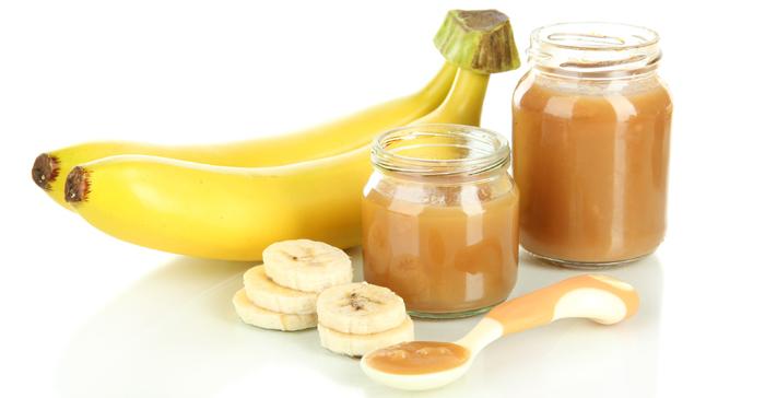 ماسك الموز مع زيت اللوز