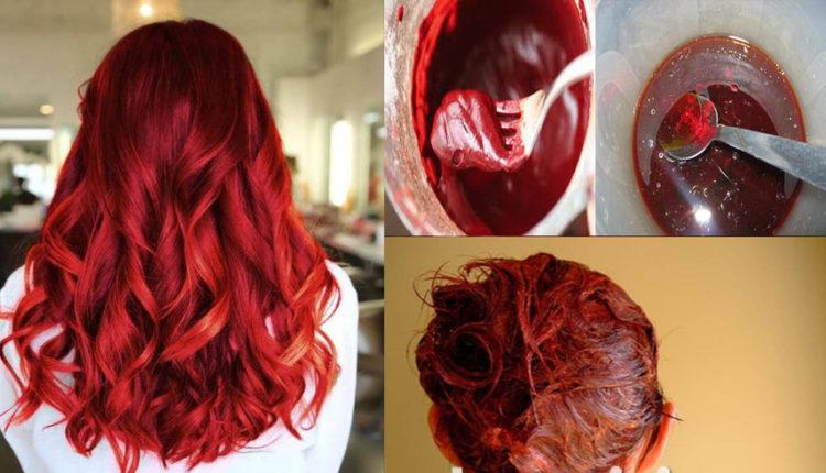 وصفة طبيعية لصباغة الشعر باللون الاحمر الرائع بمكونات بسيطة